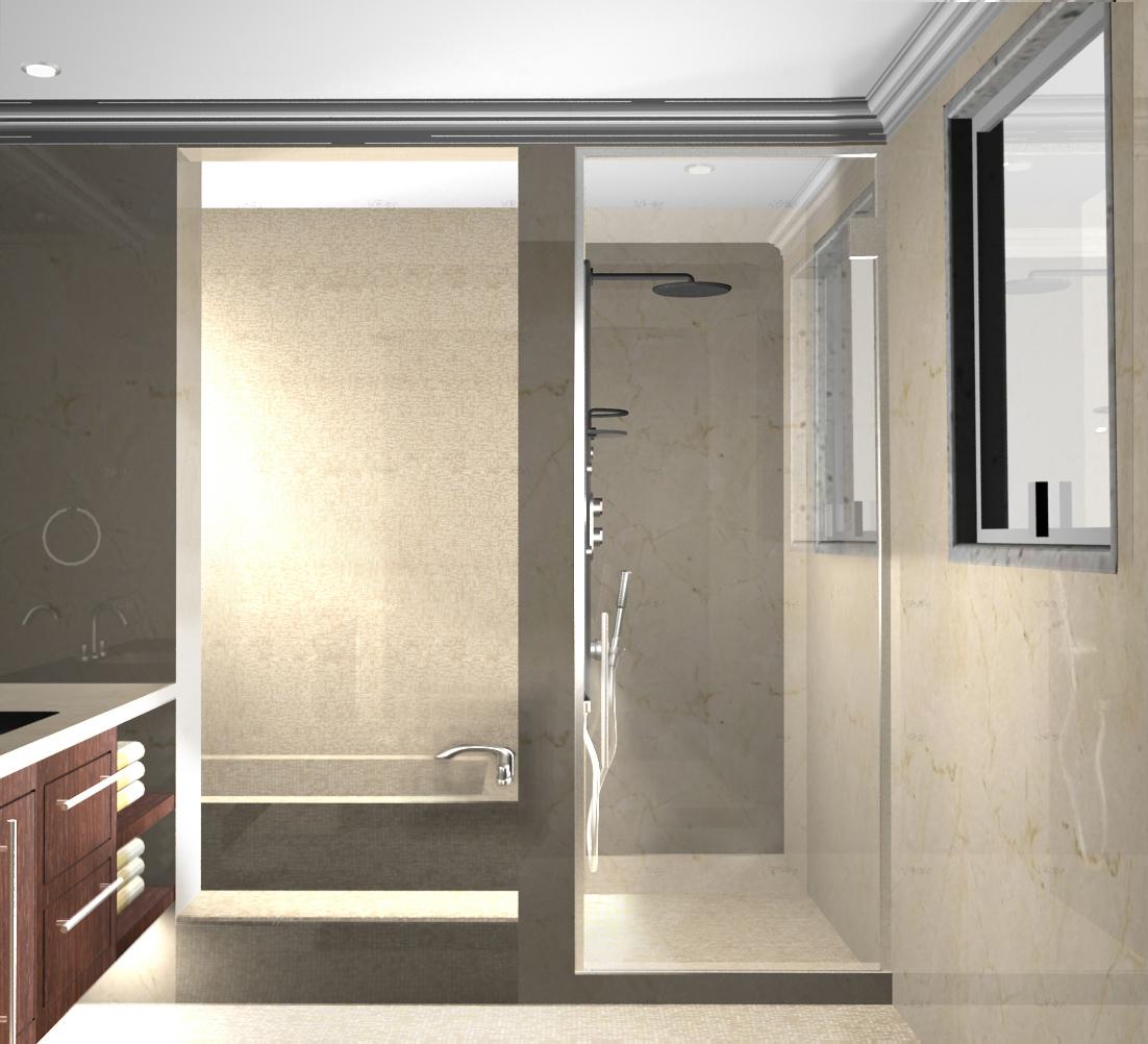 Estudio gl renders de dise o interiores para casa habitaci n for Diseno estructural de casa habitacion