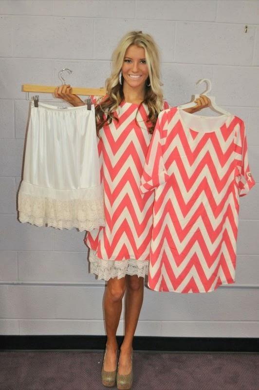 Skirt extender under too short dresses.