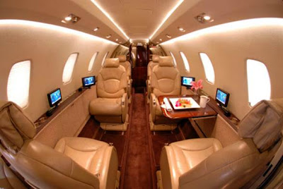 Jackson Hole Citation Excel Private Jet Charter Interior