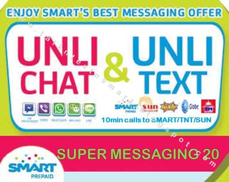 Talk n Text n SMART Prepaid Promos: SMART Unli Chat & Unli