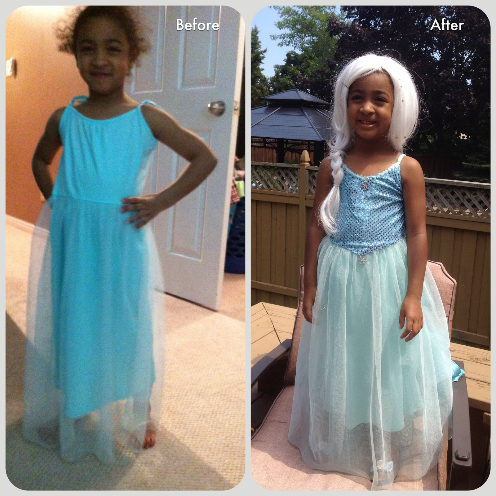 À la Mode: My DIY version of Elsa\'s princess dress from the Disney ...