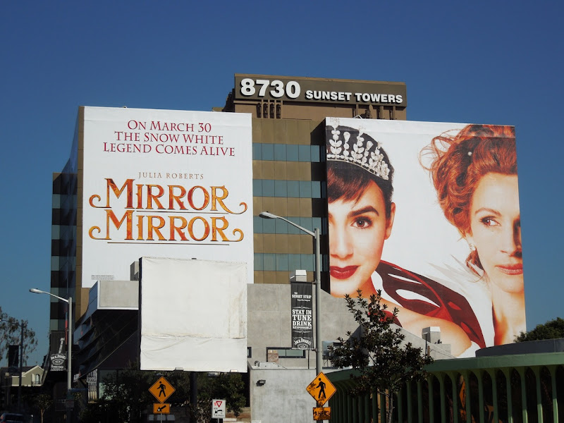 Giant Mirror Mirror billboard