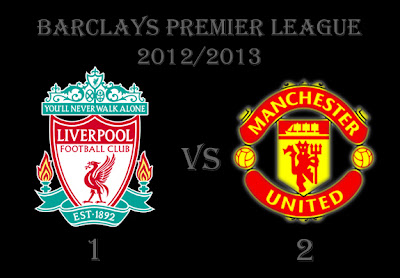 Liverpool v Manchester United Result Barclays Premier League 2012