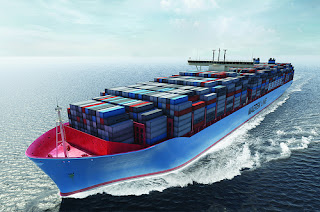 New Maersk Line 18,000 TEU Container Ship Currently Under Construction