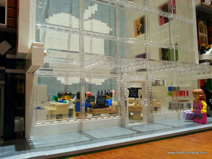 LEGO Apple shop built transparent bricks brick built