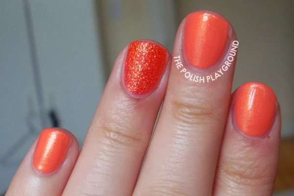 Coral Shimmer with Texture Accent