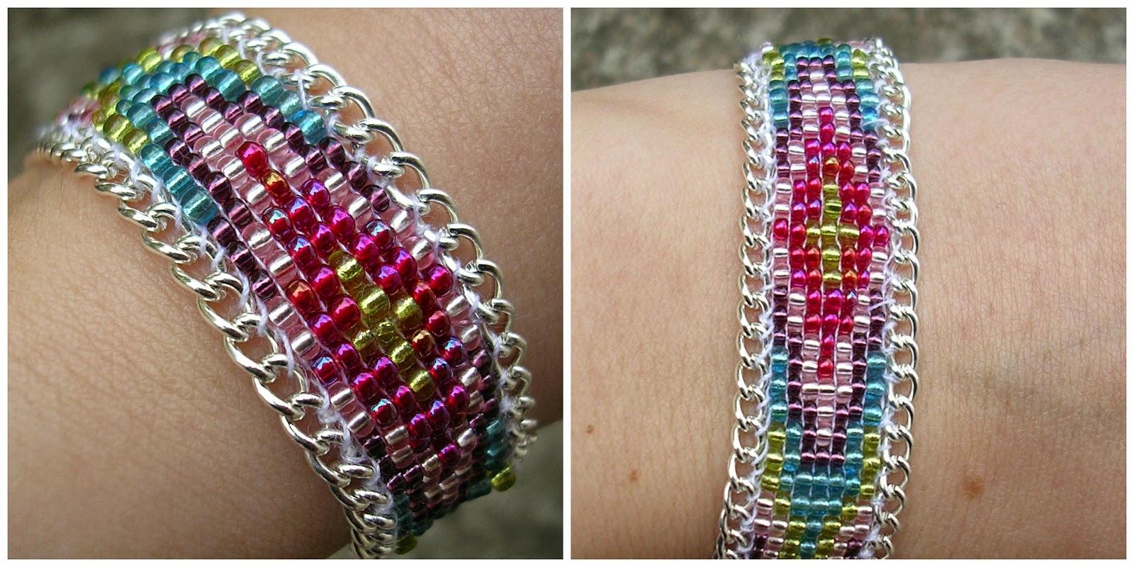 Super Boucle d'Aure: DIY : Bracelet perles tissées et chaine SZ95