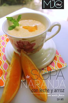 Sopa de naranja y zanahoria