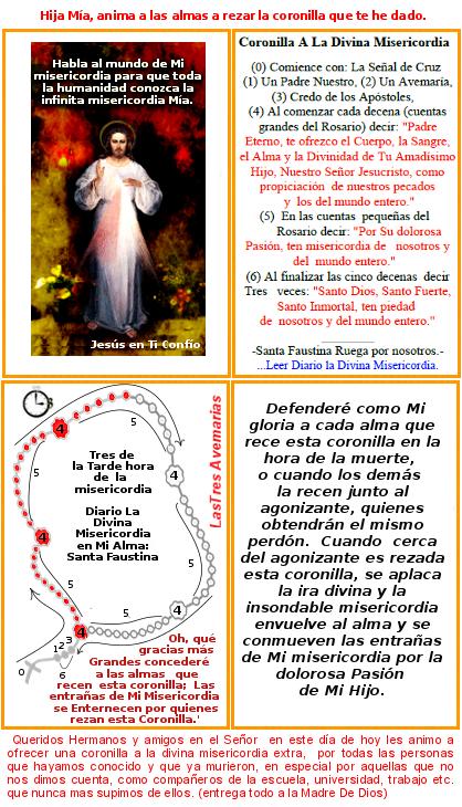 imagen de jesus misericordioso animando a rezar la coronilla a divina misericordia