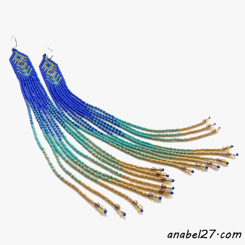 оригинальные украшения из бисера куплю серьги из бисера россия