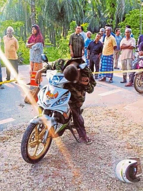 Kisahnya Lelaki Temui Ajal Terduduk Diatas Motor Al Fatihah