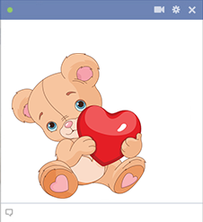 Teddy bear holding heart icon