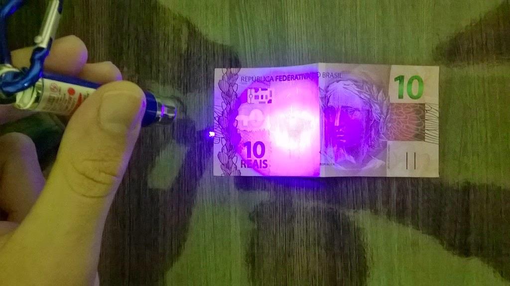 cedula 10 reais luz negra