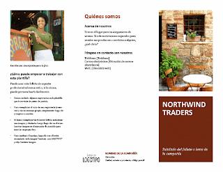 folleto para pequeños negocios o empresas