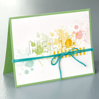 Stampin' Up! Gorgeous Grunge Little Letters Thintlits Hello Card #stampinup