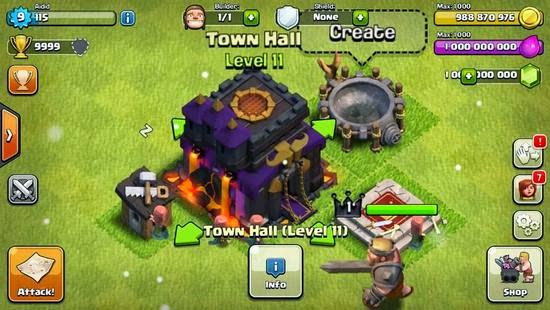 Clash of Clans V7.1.1 APK (GEMS & GOLD INFINITE) (UNIVERSAL HACK 2015 PVP)