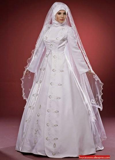 Robe mariage hijab classique