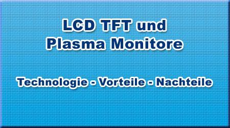 LCD TFT und Plasma Monitore