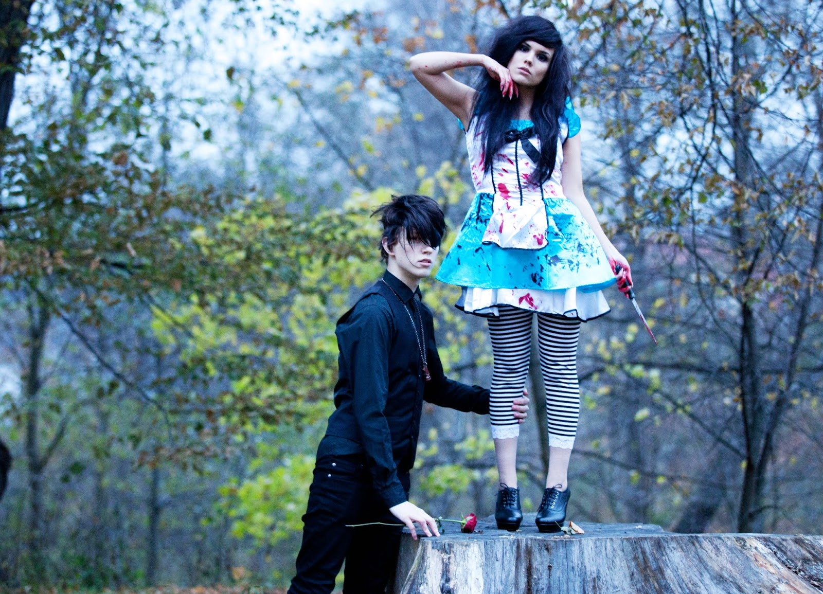 Dark Alice In Wonderland Photoshoot