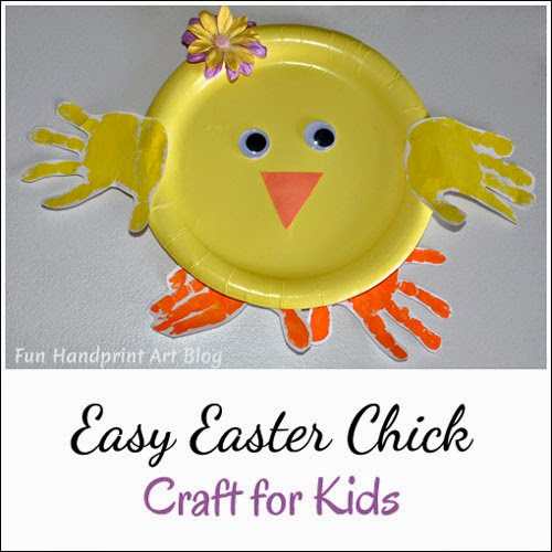 How to make a Paper Plate Handprint Chick for Easter {kids craft}