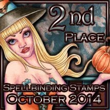 I Came 2nd At Spellbinding Stamps