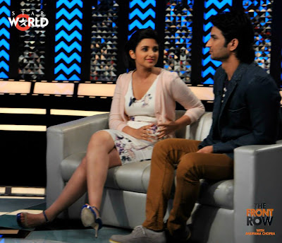 Sushant Singh Rajput, Parineeti Chopra & Vaani Kapoor on The Front Row studio