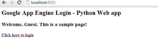 Google App Engine Python User Login