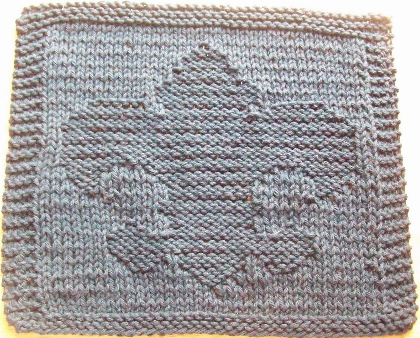 DigKnitty Designs: Another Fleur De Lis Knit Dishcloth Pattern