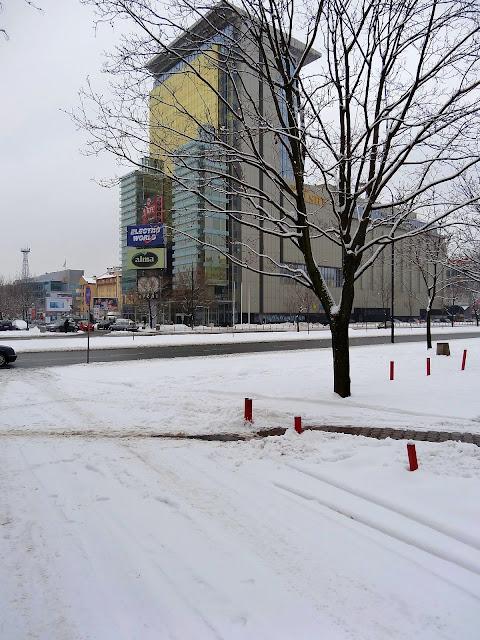 Zima na osiedlu Ostrobramska