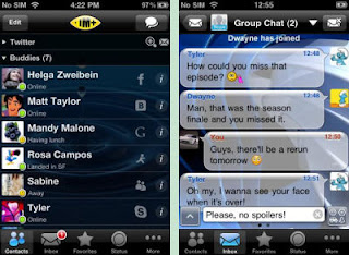 IM App for iOS Devices, IM+ Messenger Client Interface