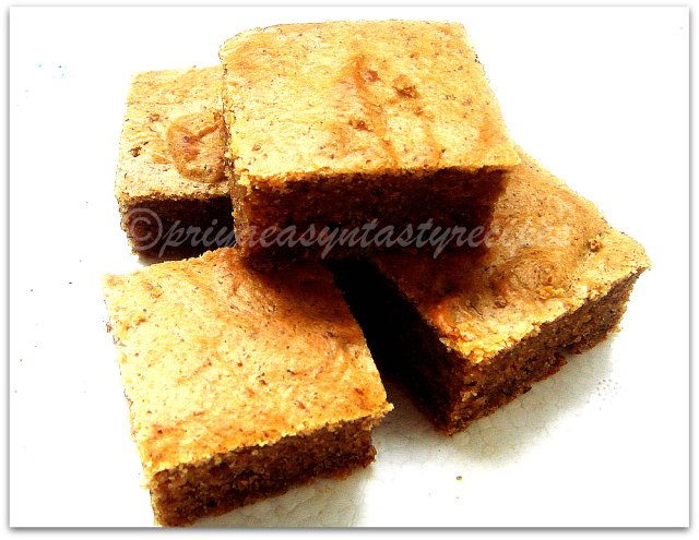 Eggless white chocolate peanut butter blondies
