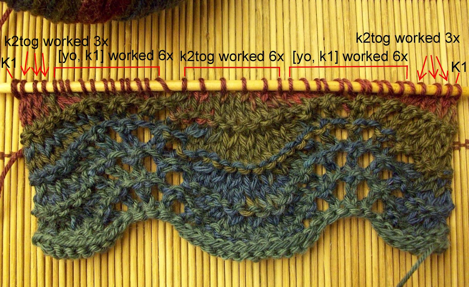 Creative Knitting Free Patterns : Easy Knitting Tutorial: Feather & Fan Stitch Creative Knitting Blog
