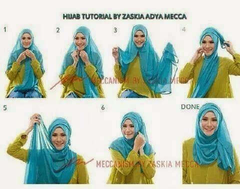 Hijab Tutorial ala zaskia adya mecca