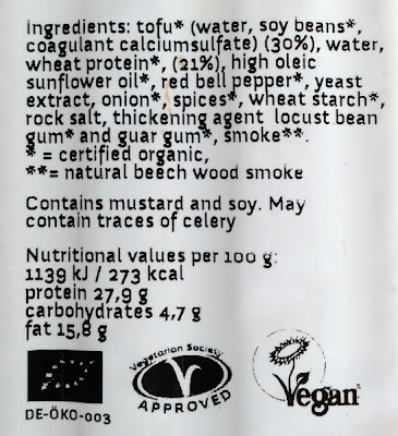 Topas Wheaty Toro vegan sausages ingredients