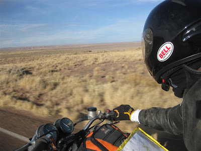 Petrified Forest, motorcycle ride, road, national park, trip
