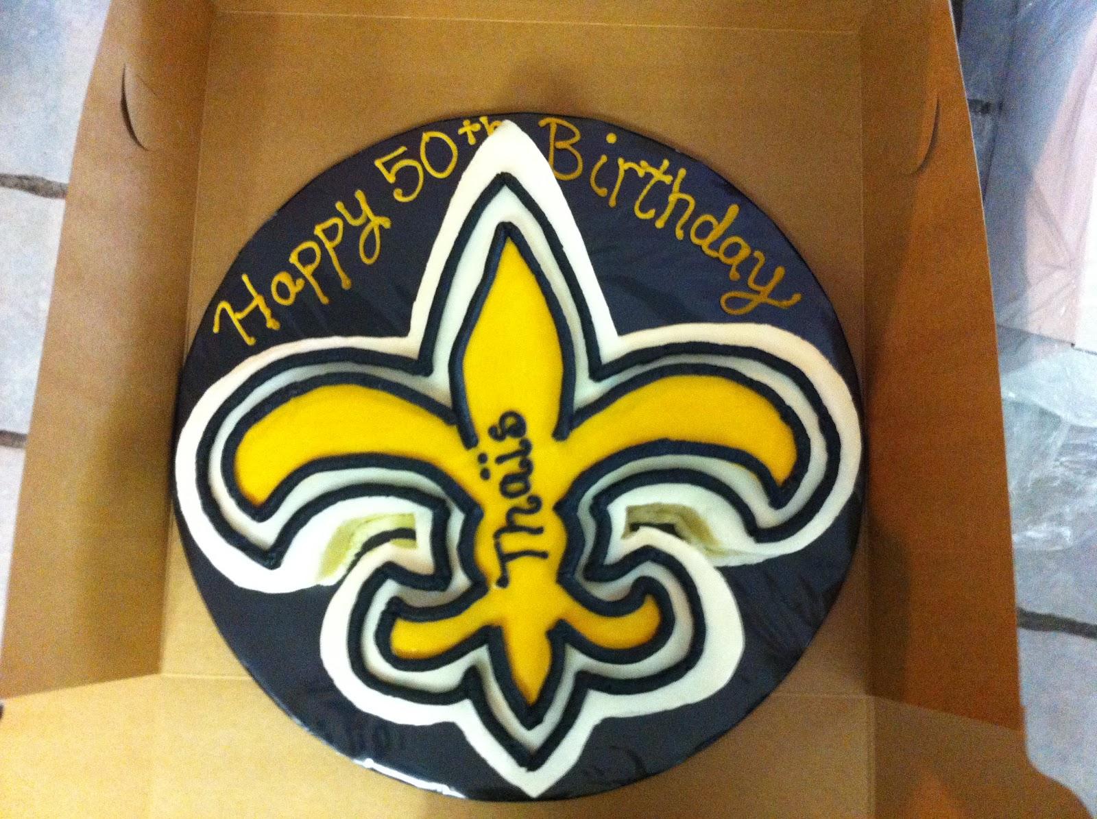 Cakes by Mindy: Saints Fleur de lis Cake 14\