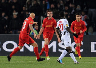 Pertandingan Udinese vs Liverpool