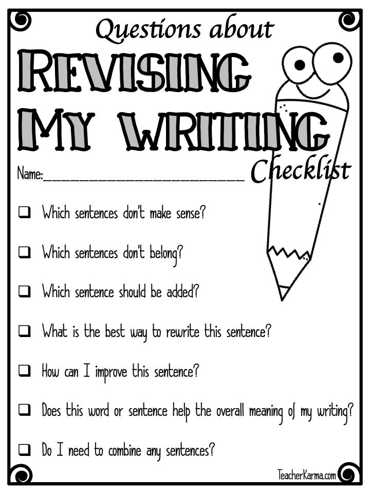 Essay writing checklist