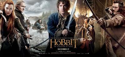 Legolas and tauriel kiss movie poster art the hobbit