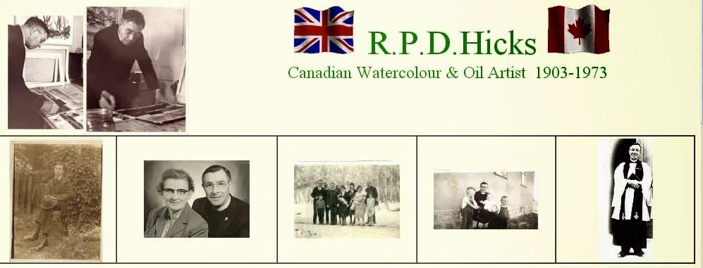 Rev.RPD Hicks Canadian Watercolor Artist