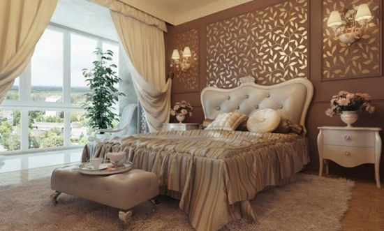 Royal modern bedroom home interior design for Bedroom designs royal