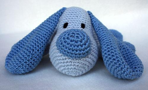 Muso cane cuscino amigurumi