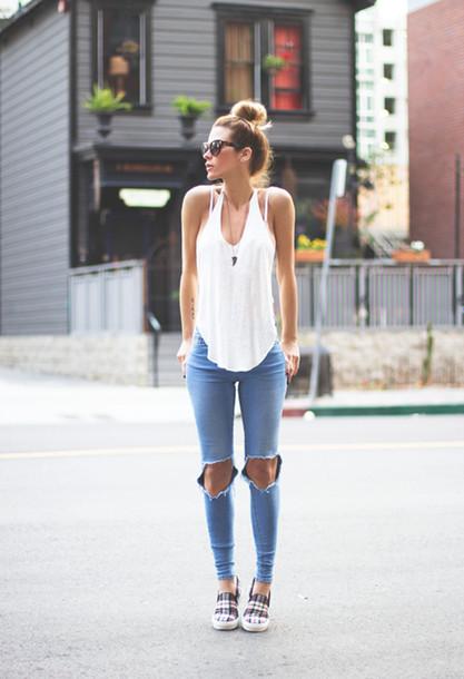 calça jeans destroyed maxi rasgo