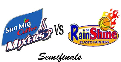 San Mig Coffee Mixers vs Rain or Shine Painters Semifinals (Video Replay) December 25, 2012