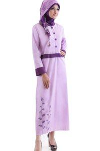Najya Gamis J42 - Violet (Toko Jilbab dan Busana Muslimah Terbaru)