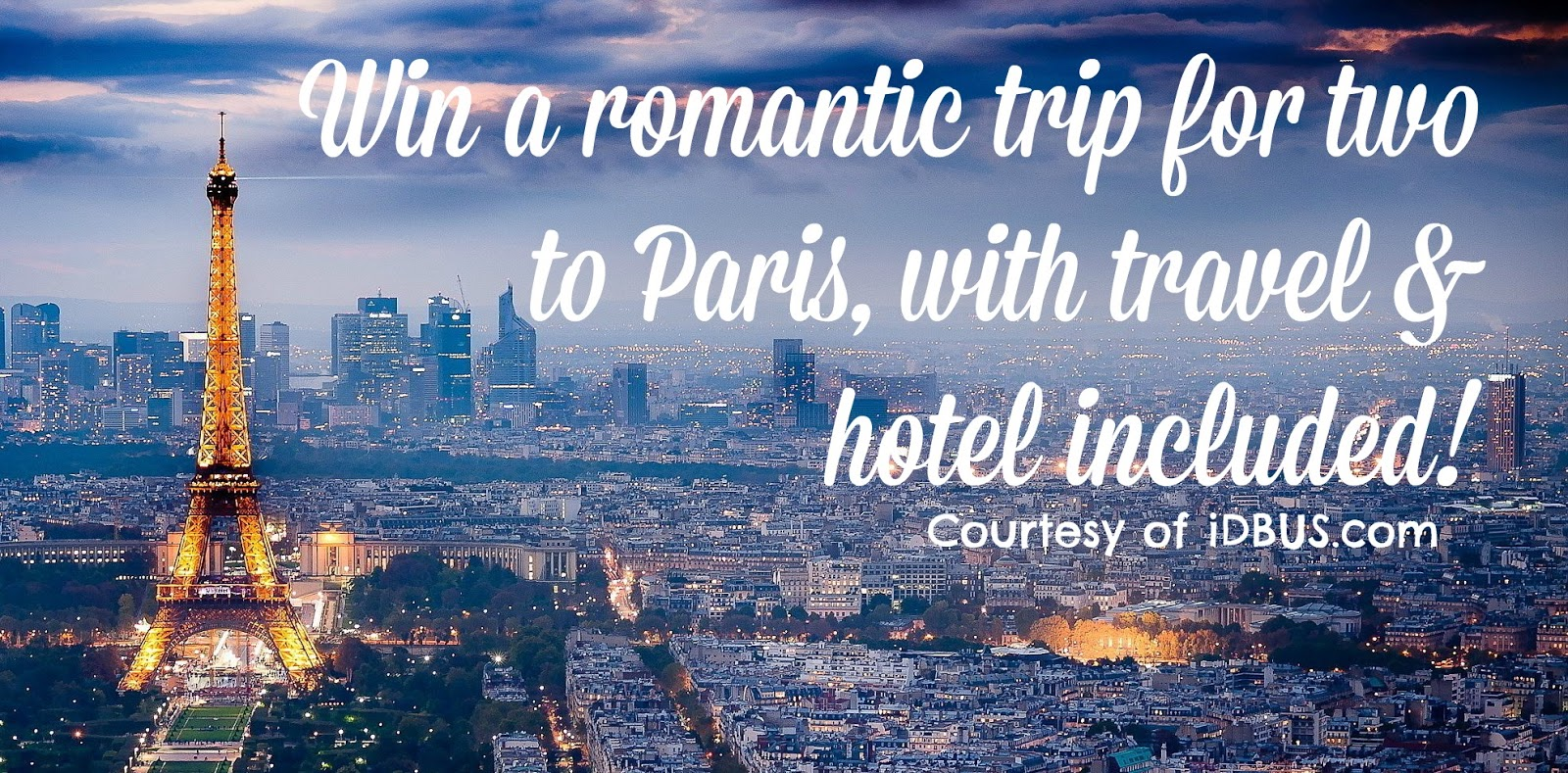 Win a romantic trip to Paris for two