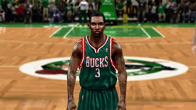 NBA 2K13 Brandon Jennings Cyberface Mod