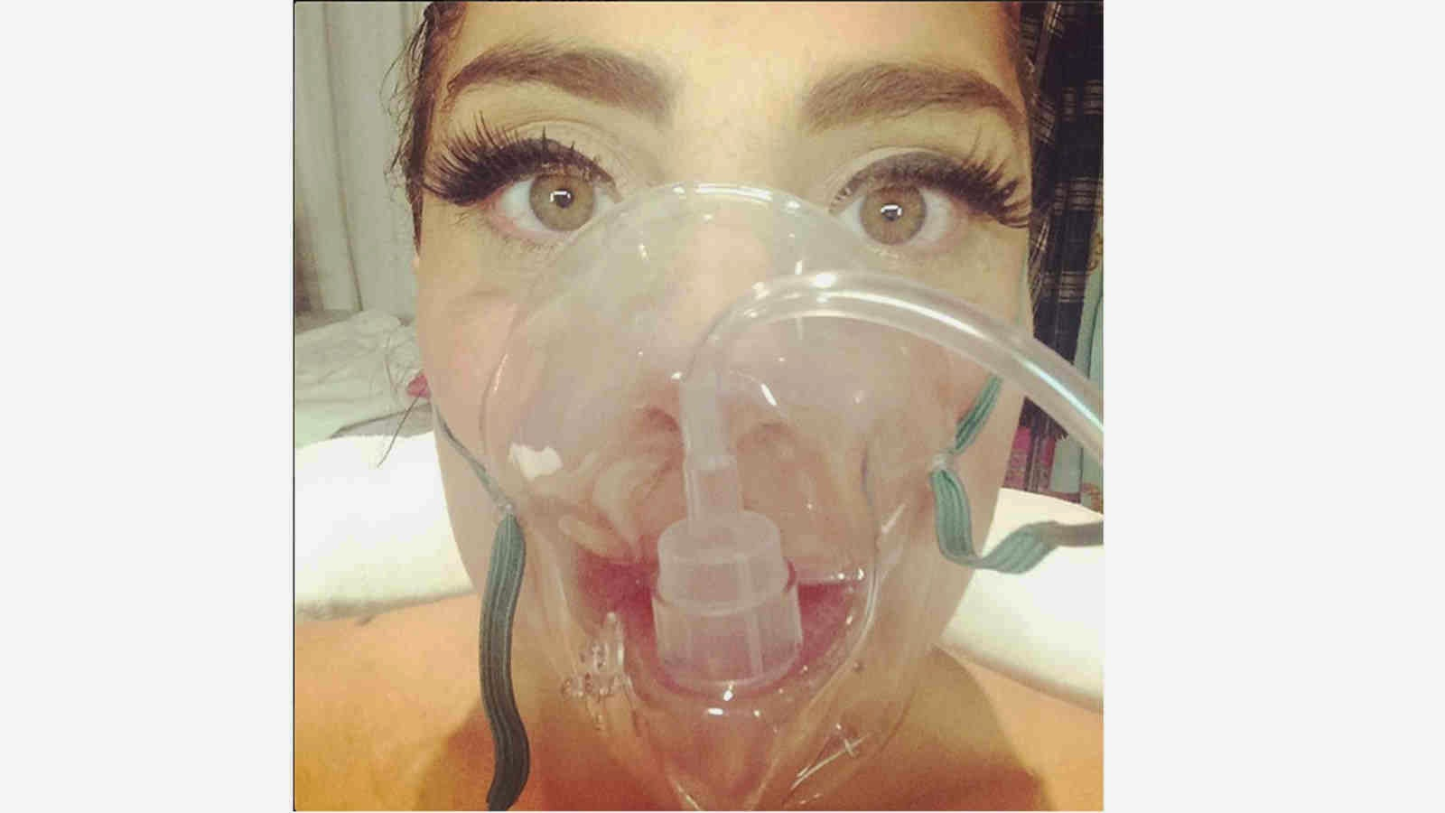Altitude Sickness, Lady Gaga, Oxygen Mask, Pepsi Center