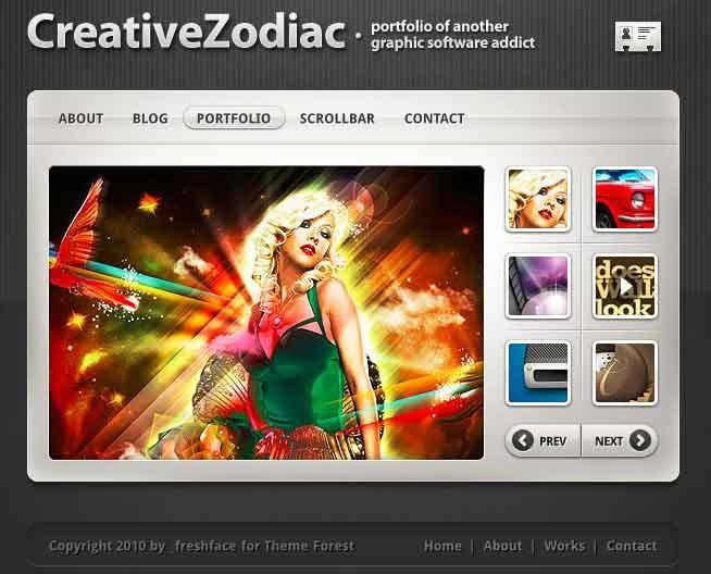 Creative Zodiac - Portfolio & Blog Wordpress Theme