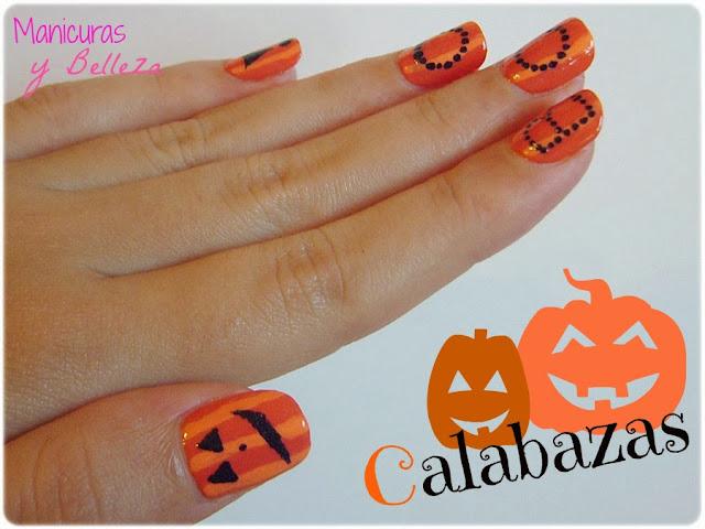 nail art manicura halloween calabazas pumpkins nails uñas decoradas diseños